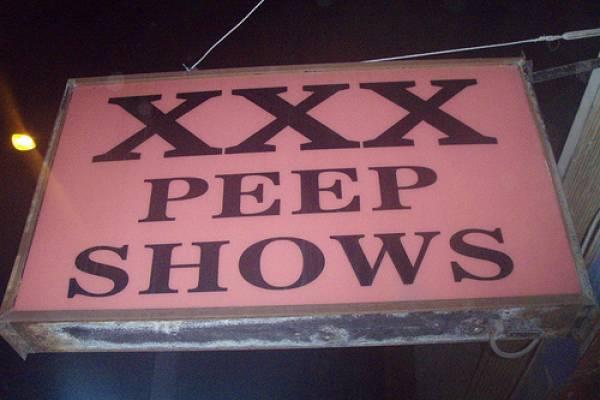 Illuminated Sign: XXX Peep Shows