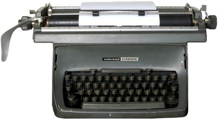 Picture of old manual typewriter
