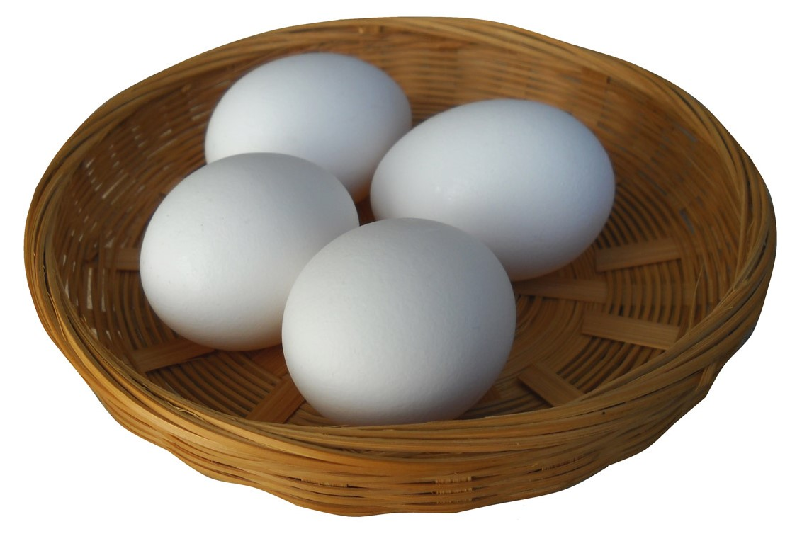 Egss in basket - public domain image